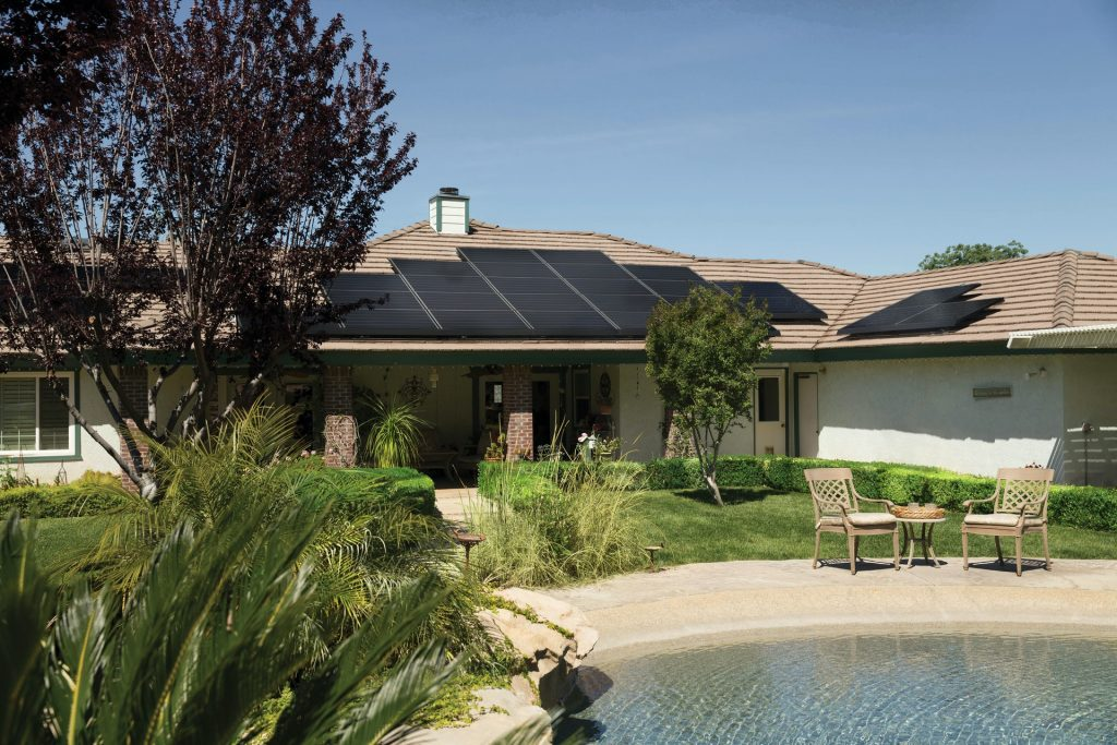 Solar Panels on Eco Home
